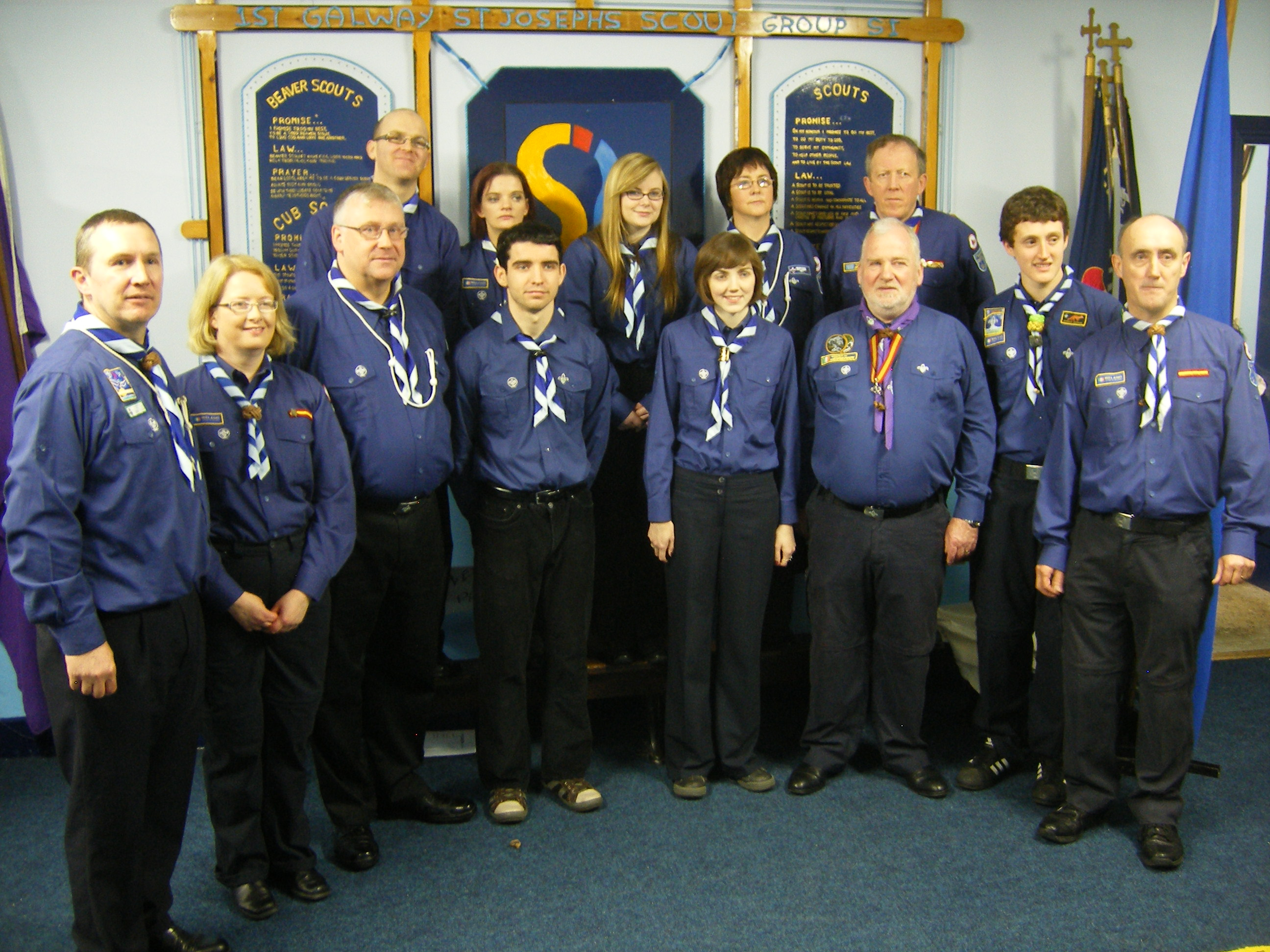 1st Galway Leaders with Chief Scout Michael J Shinnick