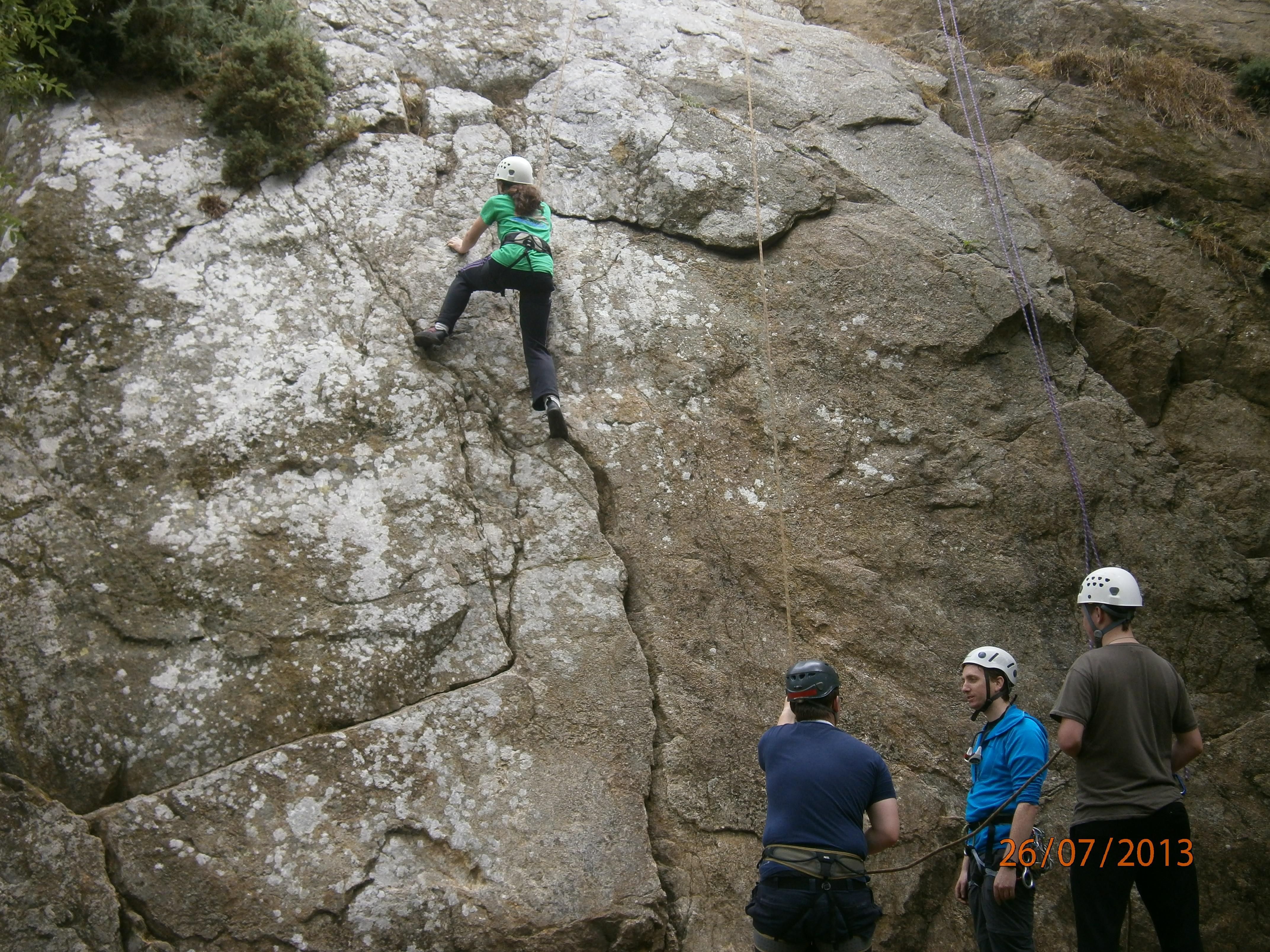 Rock Climbing Dalkey Quarry 2013
