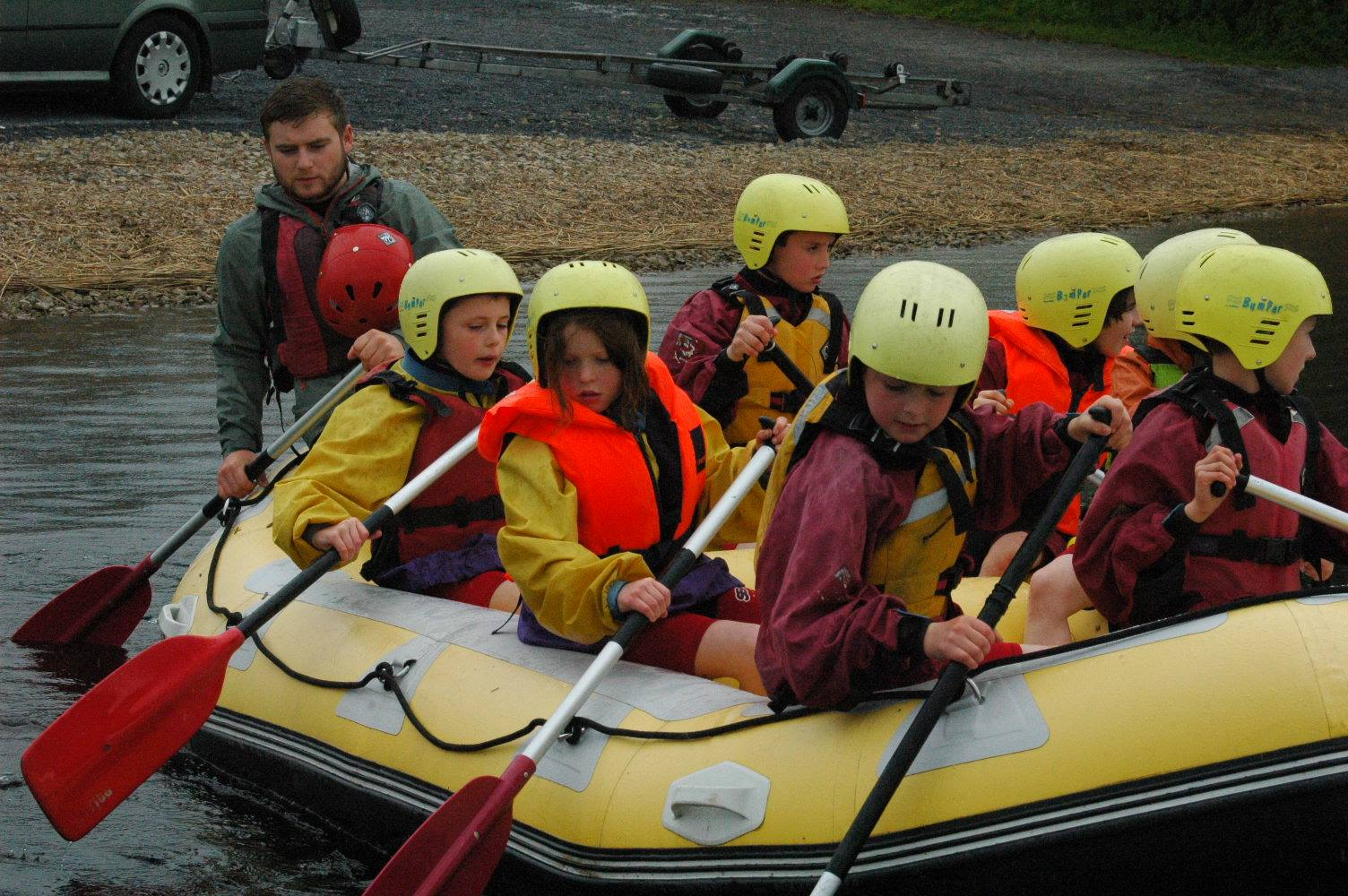 Rafting on Lough Key