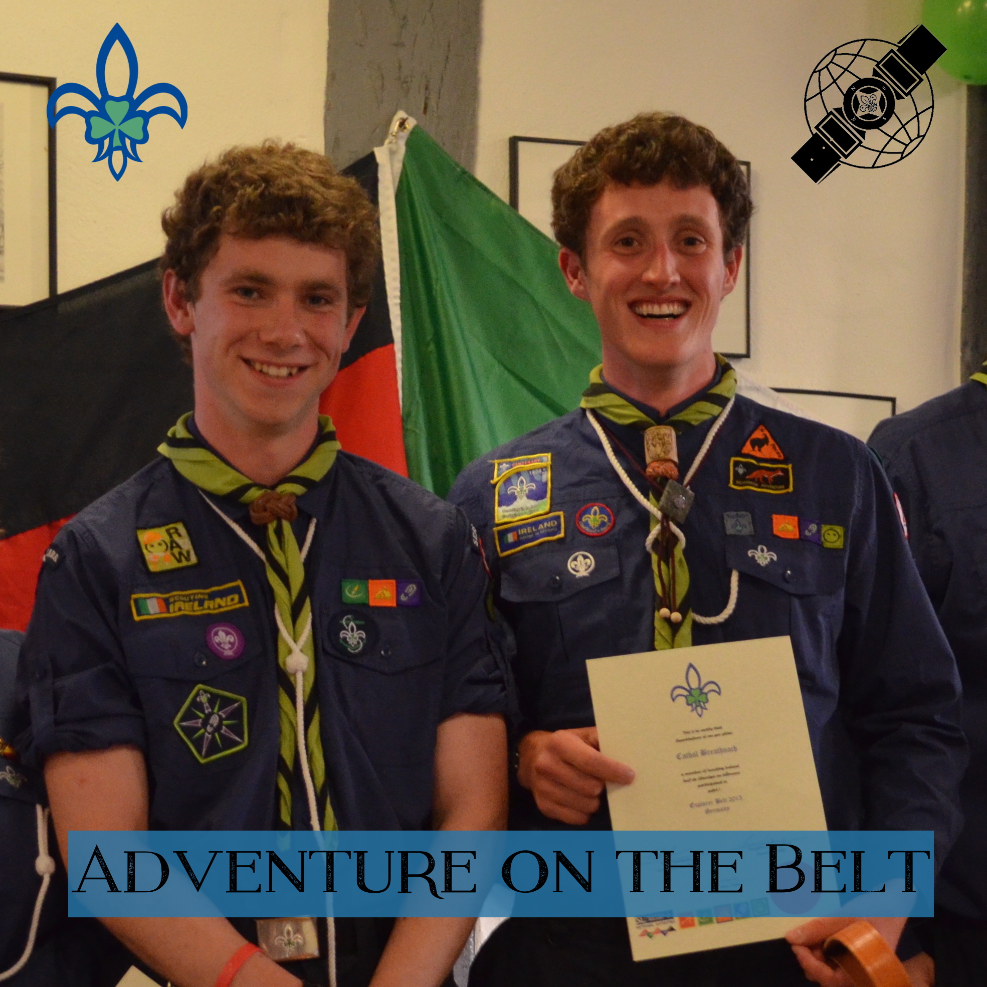 Fionn (right) and Cathal (left) after receiving their belts at the award ceremony